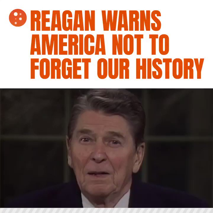 Image for the Tweet beginning: This clip from Reagan's farewell