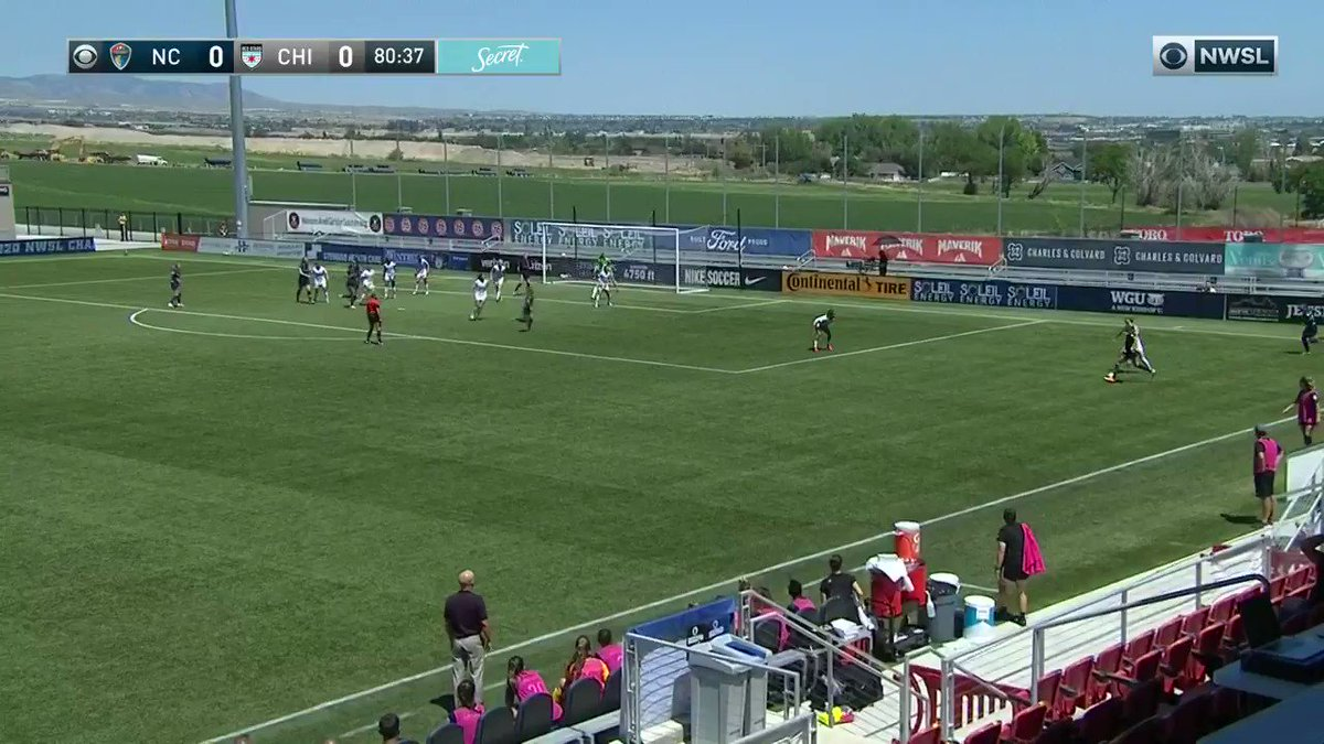 That's using your head, @abbyerceg!  Did @TheNCCourage score another late game-winning goal?  1-0 | #NCvCHI  Tune in now on @CBSAllAccess and @Twitch.  #NWSLChallengeCup https://t.co/15b1MOa8wr