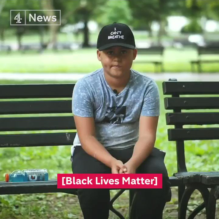 """""""I shouldn't be scared but I am,"""" says 11-year-old Jordyn. As Black Lives Matter demonstrations continue across the US, children have joined in the protests. Channel 4 News spoke to some of them in Washington DC to find out why."""
