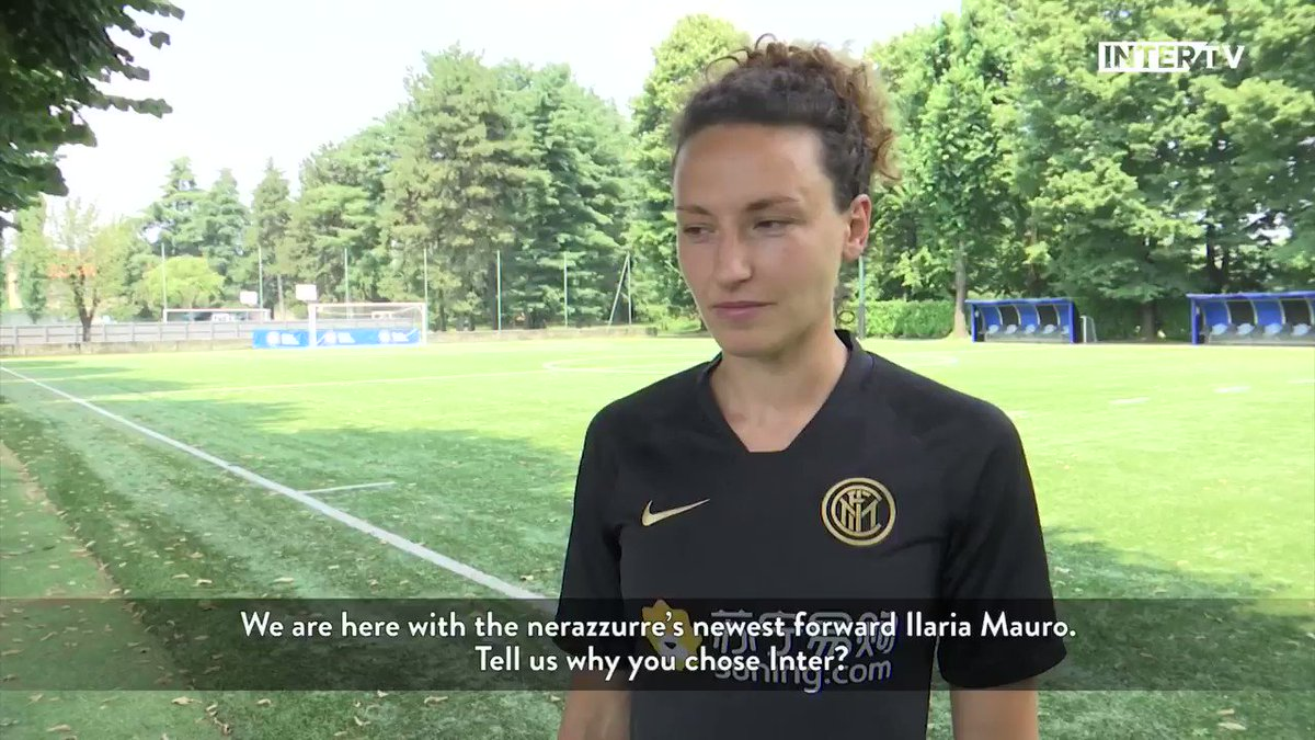 "🎙️ | INTERVISTA  Le prime parole di Ilaria #Mauro a @Inter_TV: ""Arrivo in un club molto quotato, sono qui per portare esperienza"" 👇  #InterWomen #WelcomeIlaria https://t.co/FOWzf6CnwX"