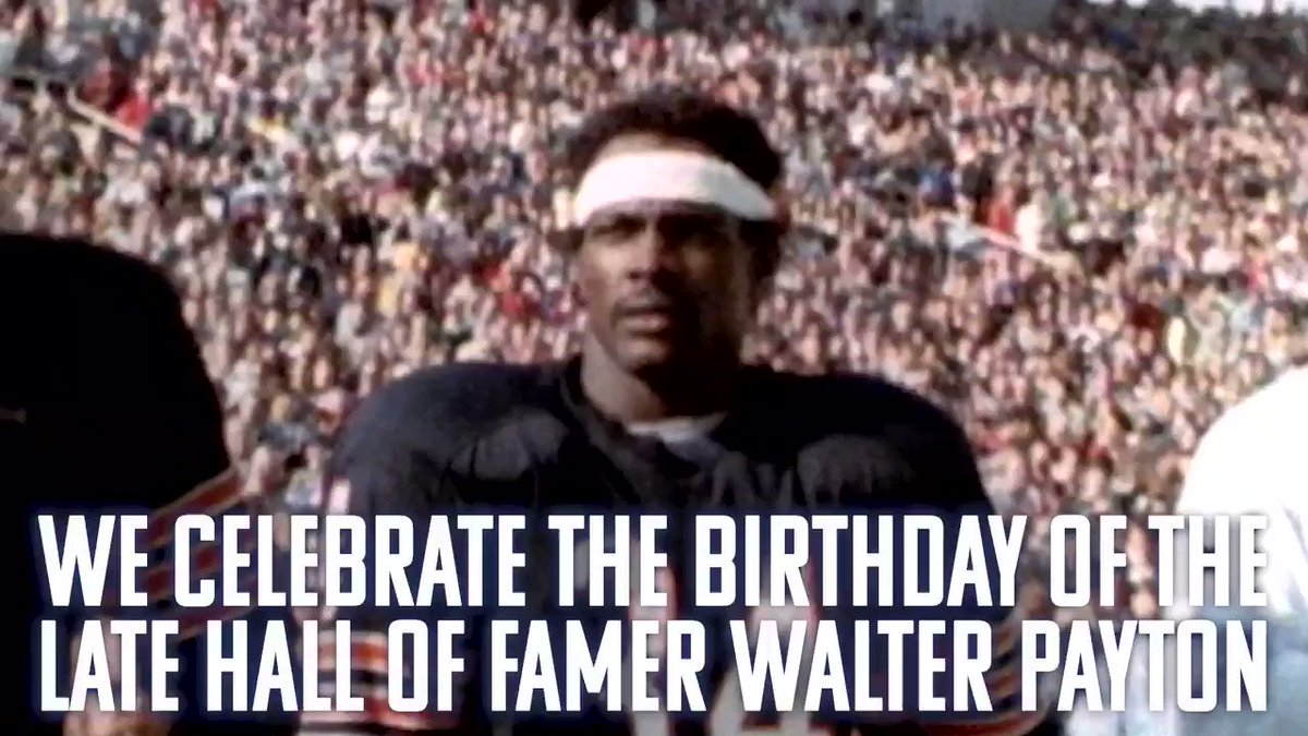Today we remember HOF RB @walterpayton on his birthday. The Walter Payton NFL Man of the Year Award recognizes an NFL player for his excellence on and off the field. The award was established in 1970 and was later renamed to honor Payton. #HBD   @ChicagoBears