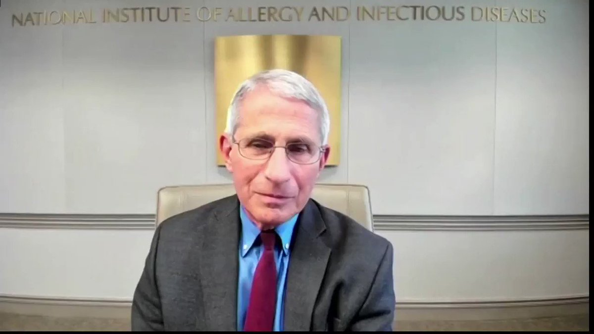 'There's no place for that when making public health recommendations' —Dr. Fauci spoke out against the politicalization of public health issues https://t.co/4yJTr46zQD