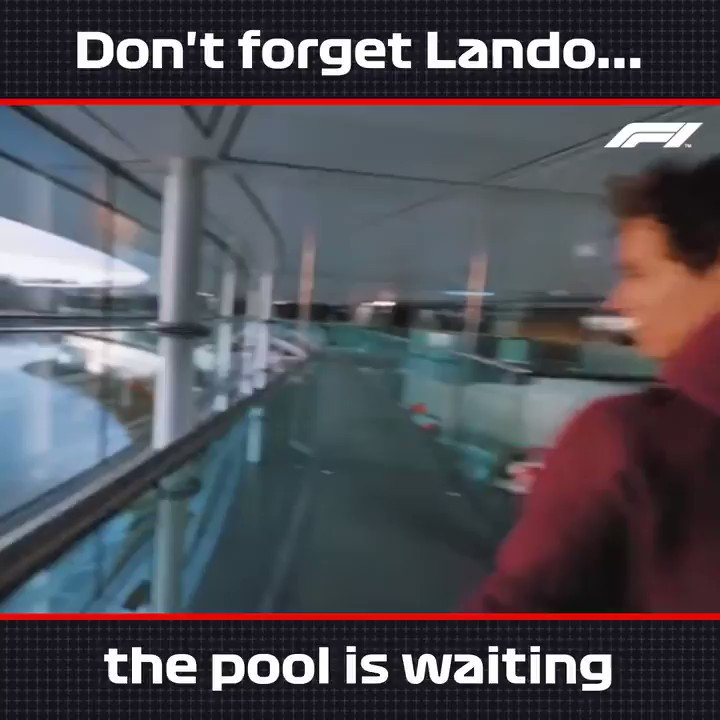 Two more steps up that podium, @LandoNorris 🏊♂️ 😆  #AustrianGP 🇦🇹 #F1