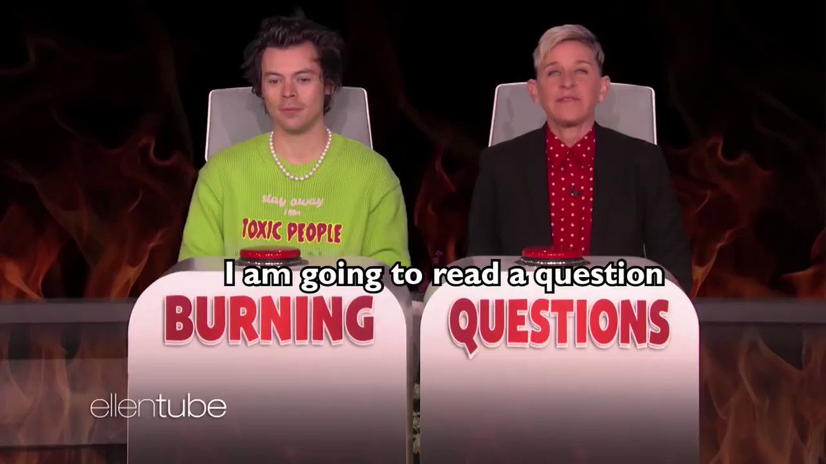 I had a lot of #BurningQuestions for @Harry_Styles. https://t.co/C2EqzrNknN