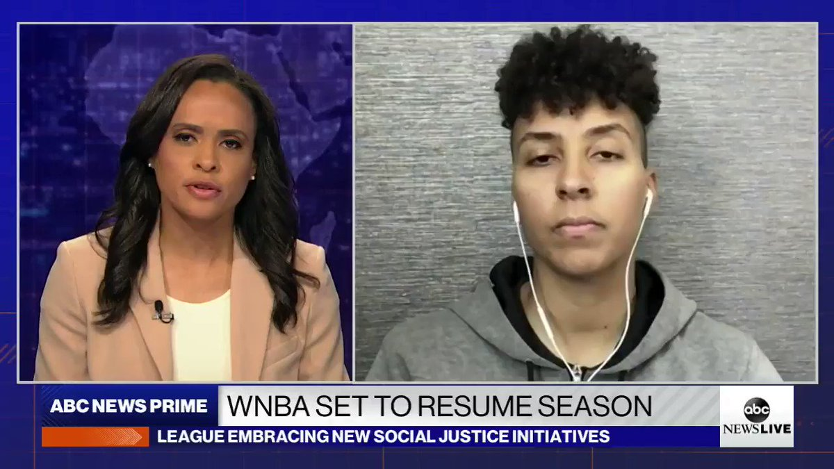 As a Black woman, as a queer woman playing in sports... my existence is political, @Layshiac, of @nyliberty, says in response to Sen. Loefflers criticism of the @WNBA. abcn.ws/31PH92i Were literally fighting for Black lives to matter in this country.