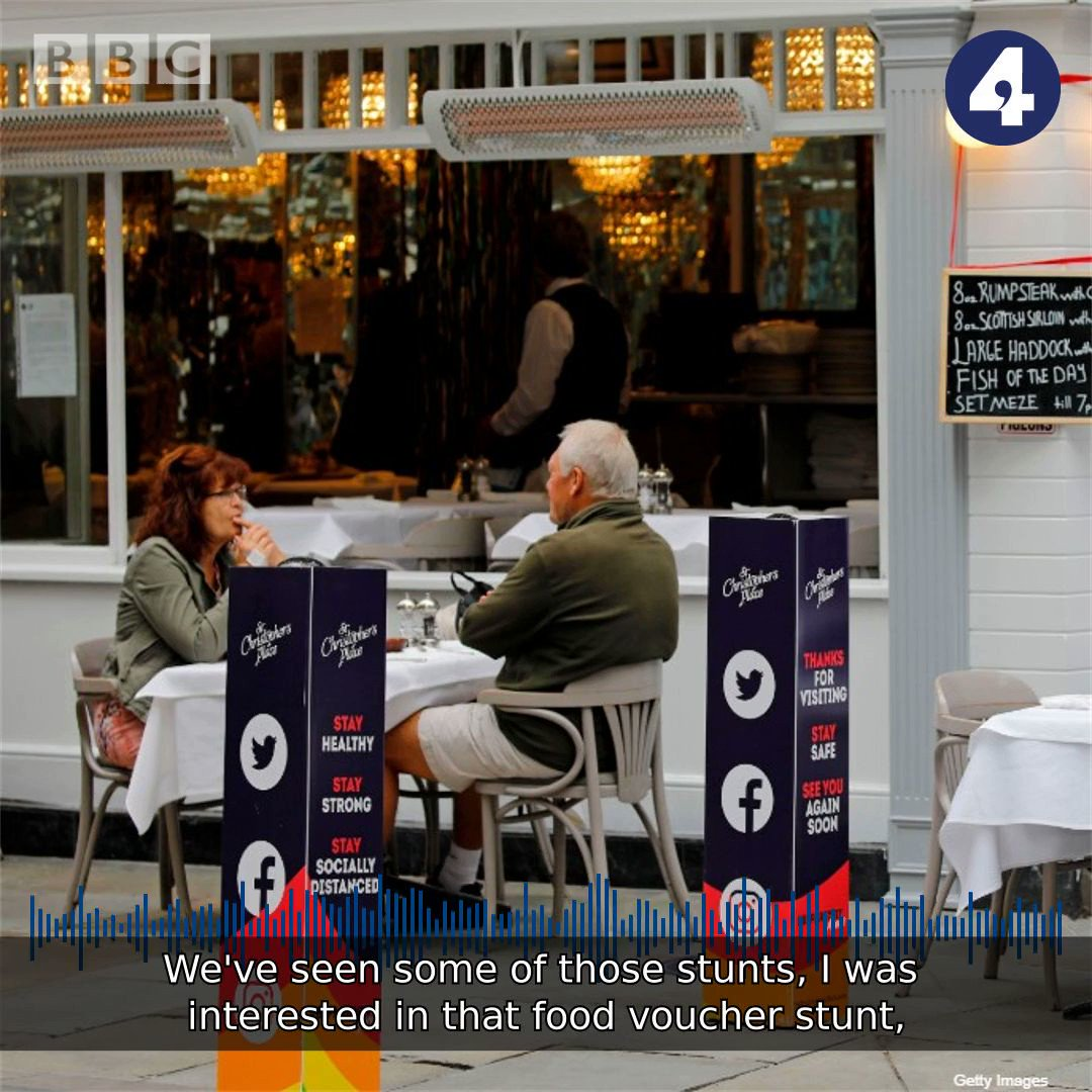 I was interested in that food voucher stunt... The General Secretary of @The_TUC tells #bbcwato, about the Chancellors Eat Out to Help Out scheme. Frances OGrady adds if you really want to boost consumption, weve got to get wages rising again bbc.in/2O5lStj