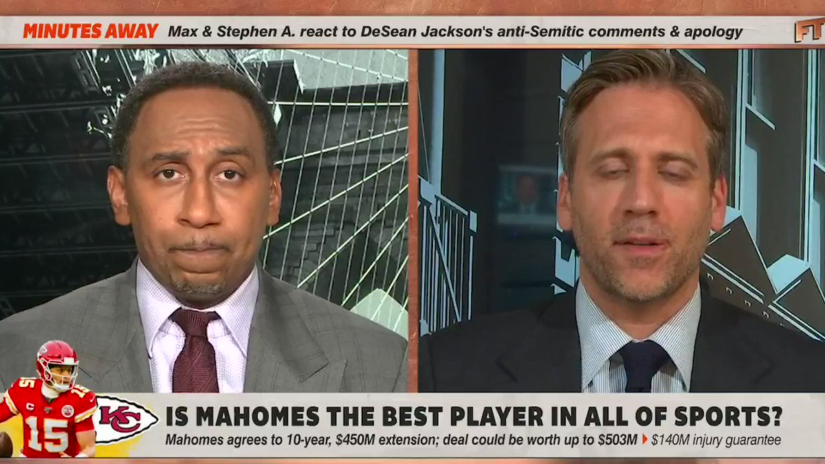 .@maxkellerman thinks that Patrick Mahomes is the best player in ALL OF SPORTS.