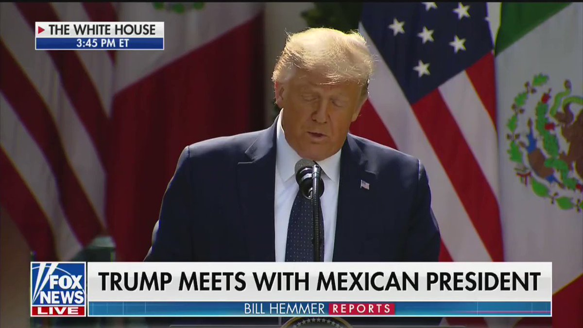 """""""The relationship between the United States and Mexico has never been closer than it is right now."""" -@realDonaldTrump"""
