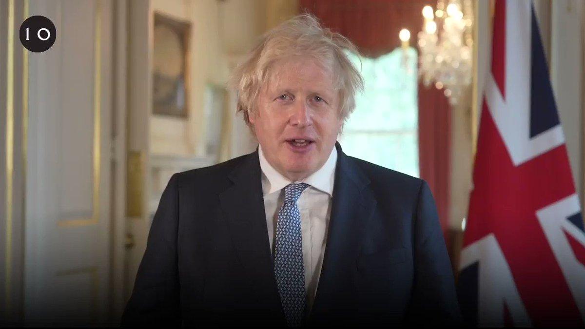 Image for the Tweet beginning: Prime Minister @BorisJohnson's address to