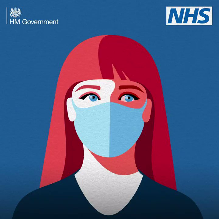Image for the Tweet beginning: Wearing a face covering can