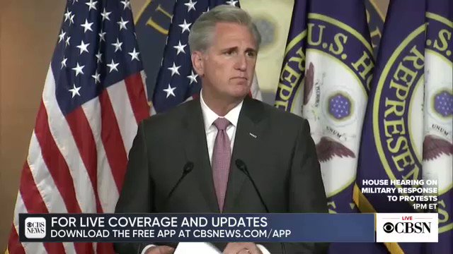 WATCH NOW: Rep. McCarthy speaks after Supreme Court decisions cbsn.ws/2ObEKqs
