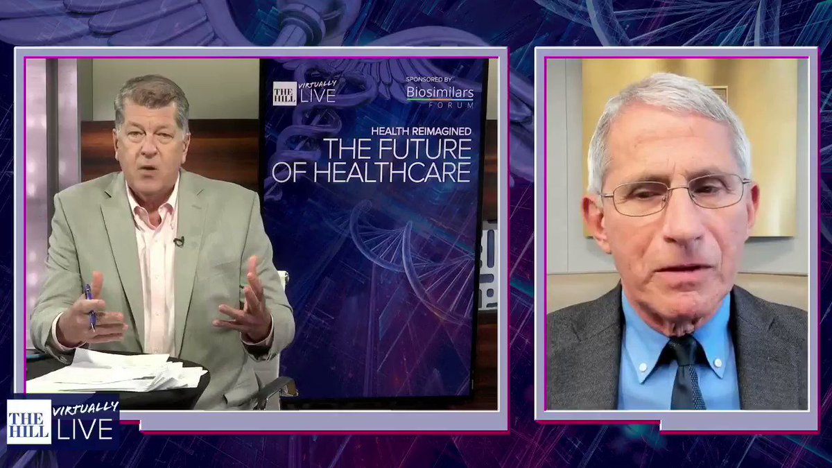 """Image for the Tweet beginning: Dr. Anthony Fauci: """"We've been"""
