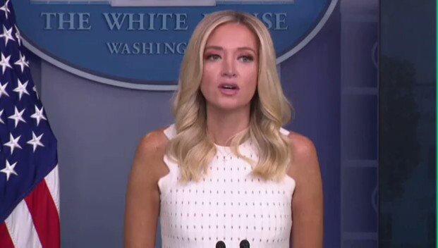 "Image for the Tweet beginning: Press Sec. Kayleigh McEnany: ""We're"