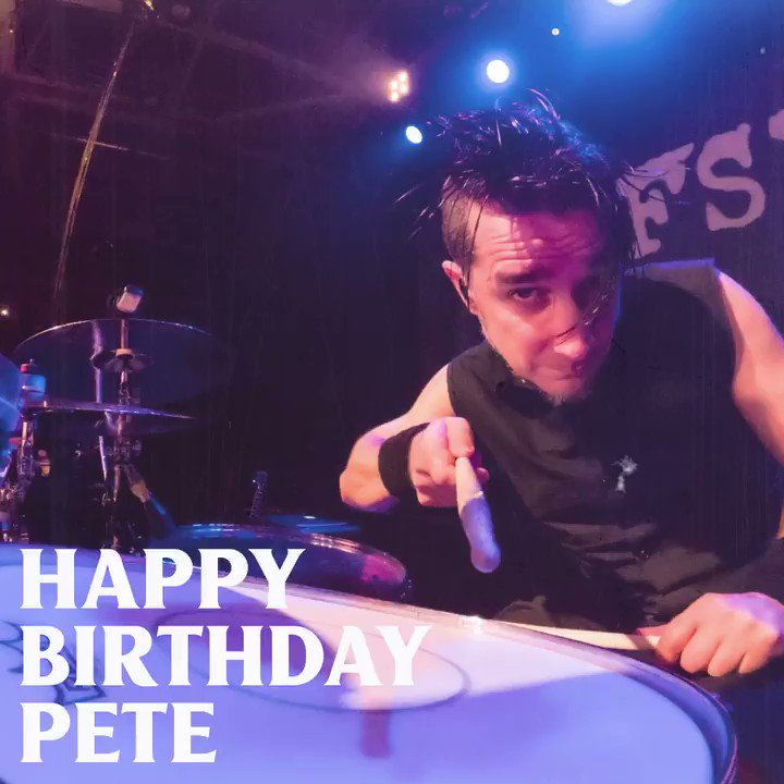 Image for the Tweet beginning: 🥁 Happy birthday @PeteParada!!! 🥁
