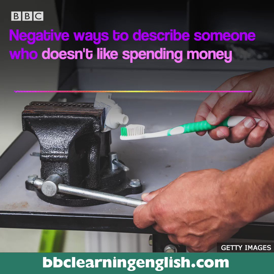 Do you know someone who doesn't like spending money? 💰💰 We've made a guide to help you describe them - and it didn't cost us a penny! #learnenglish #informalenglish #vocabulary #vocab #esl #elt #money #cheapskate #skinflint #stingy