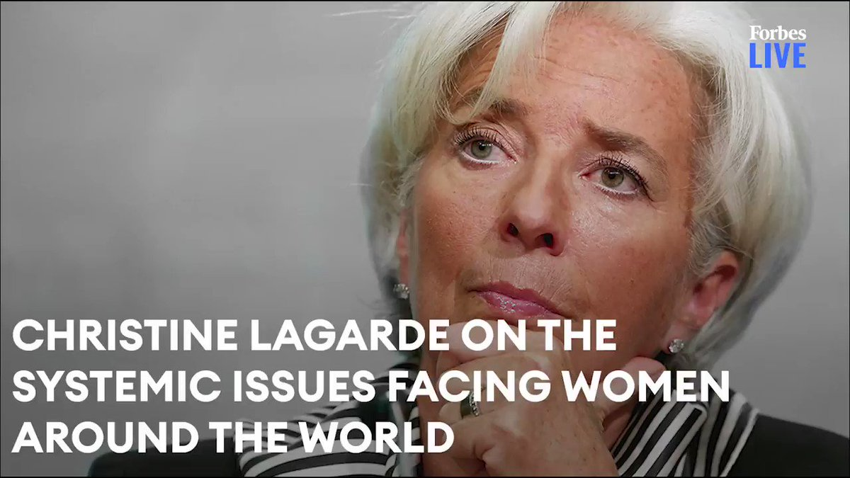 President of the European Central Bank, Christine Lagarde, on the systemic issues facing women around the world https://t.co/oqwTyDxDjU