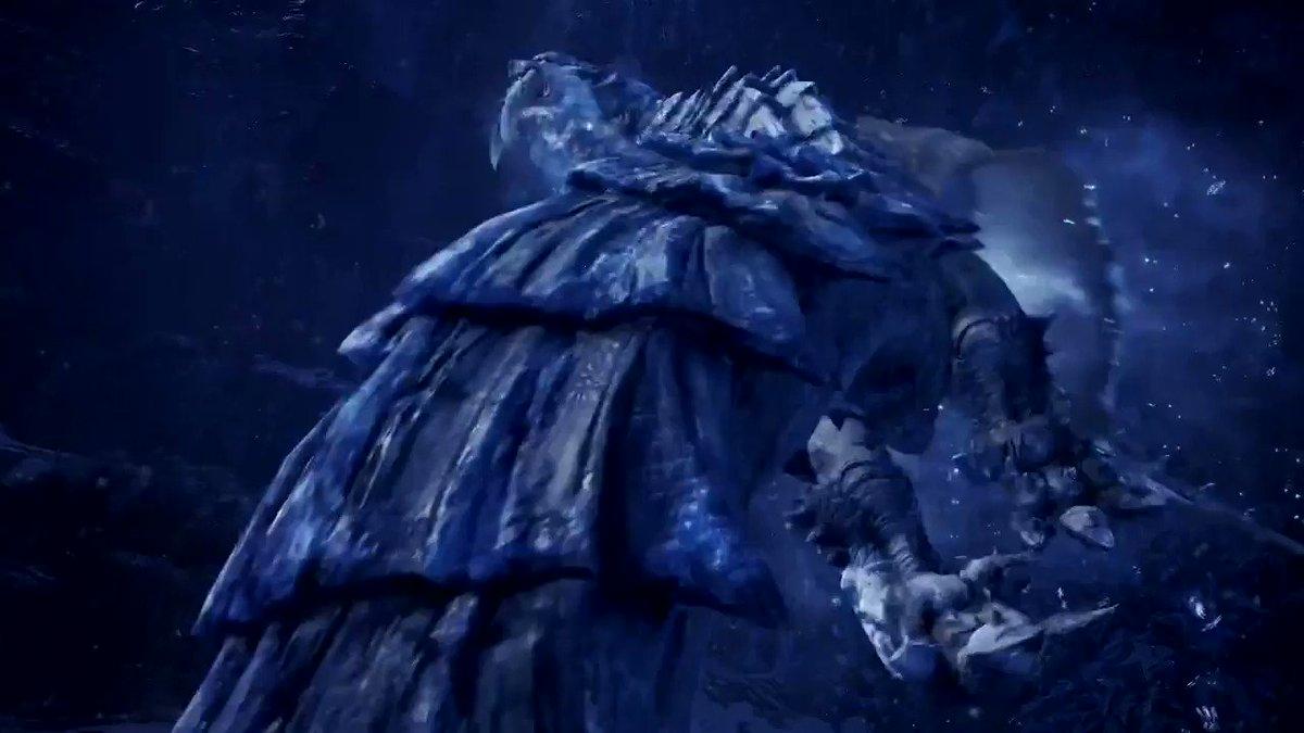 ▼追加モンスター「氷刃佩くベリオロス」ベリオロスの特殊個体。極低温のブレスを放ち、凍らせた地面に獲物を追い込む。凍った地面に触れると凍結状態に陥ってしまうので注意。イベントクエスト「終の白騎士」【実施期間】2020年8月7日(金)9:00~8月20日(木)8:59予定