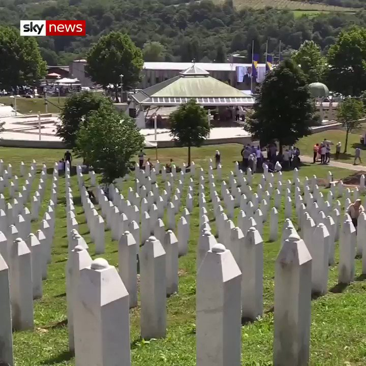 Bosnians have been marking the 25th anniversary of the Srebrenica massacre, the only crime in Europe since the Second World War that has been classified a genocide. Read more here: trib.al/d9Ttkdz