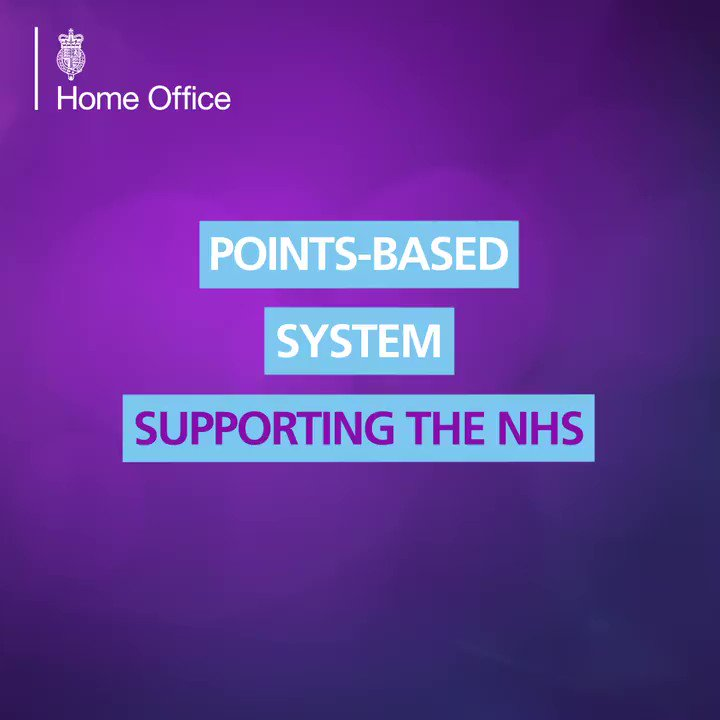 Our Health and Care Visa route will allow health professionals from around the world to come to the UK more cheaply, quickly and easily.