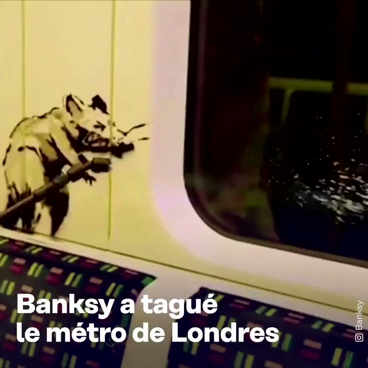 On a vu Banksy dans le métro de Londres!! https://t.co/hie4mSiyqO