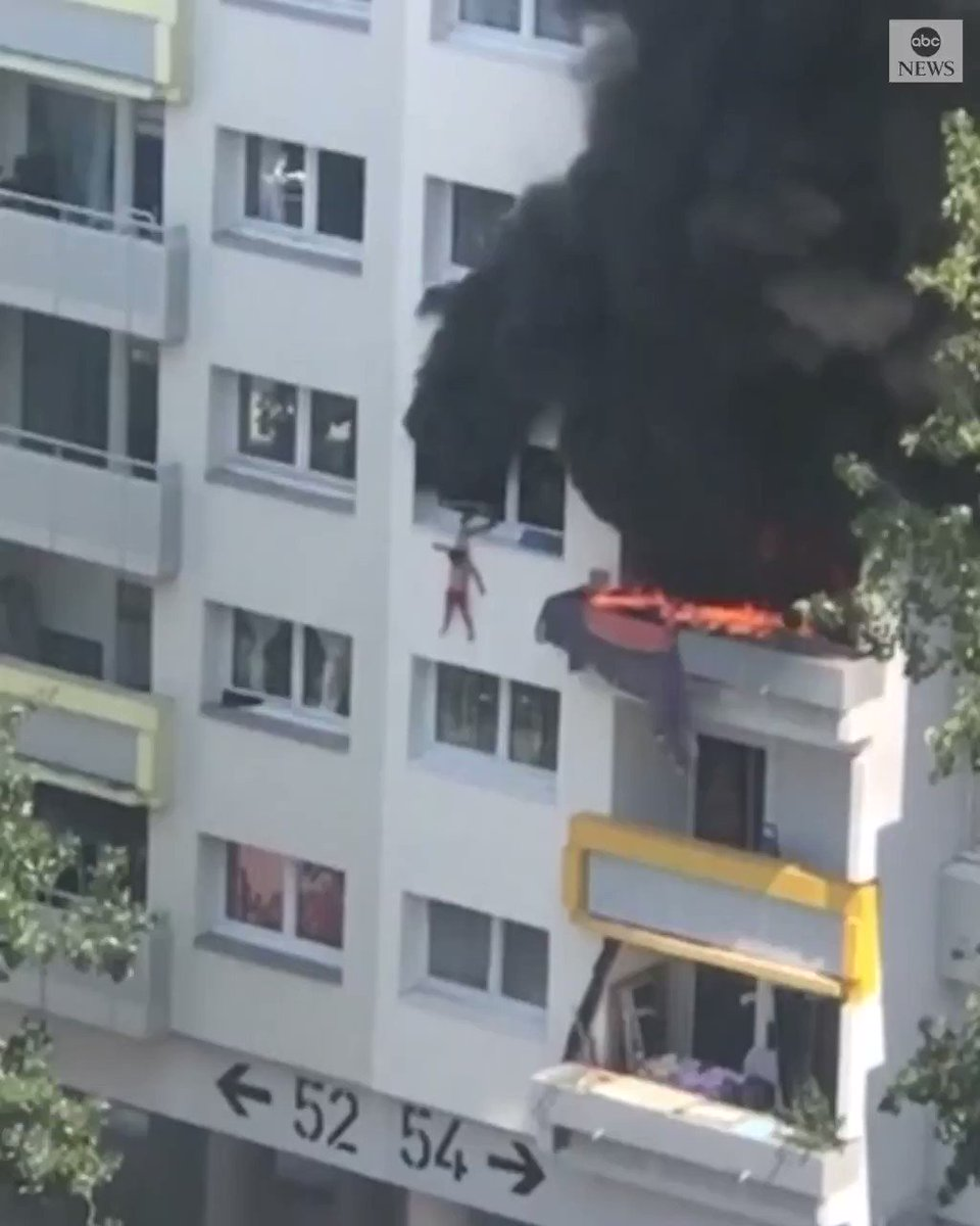 Two boys—ages 10 and 3–jumped 30 feet from a burning building in Grenoble, France. Two of the six adults who caught them broke their arms. Amazing heroism all around.