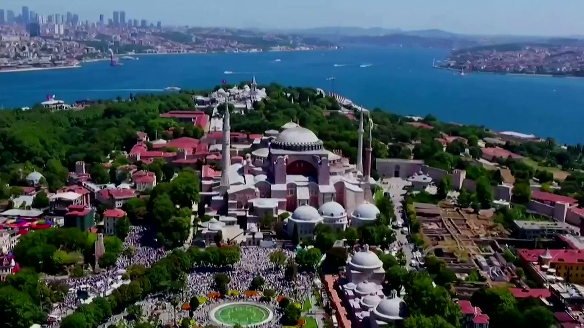 WATCH: President Tayyip Erdogan attended the first prayers at Turkey's Hagia Sophia since declaring the ancient monument a mosque https://t.co/VXWN0twu8a https://t.co/fknAtmKgsO