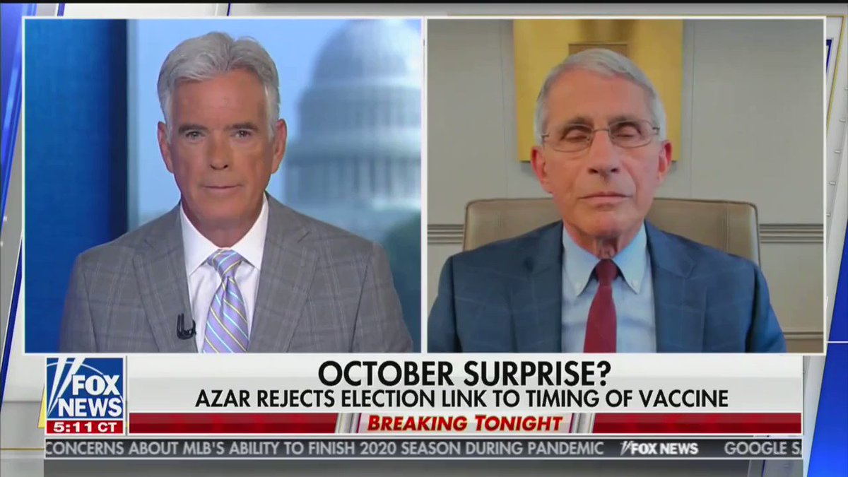Biden today says Fauci didnt acknowledge there was no political pressure. Except, heres the thing.... Dr. Fauci: There is no political pressure...to move quickly. twitter.com/BoKnowsNews/st…