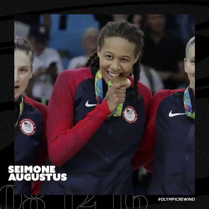 """Baby girl, you did it.""  3-time Olympic gold medalist 💰 @seimoneaugustus looks back on learning from the greats & the feeling of placing her first gold medal around her father's neck in 2008.  🇺🇸 #OlympicRewind https://t.co/02c9bVB1cS"