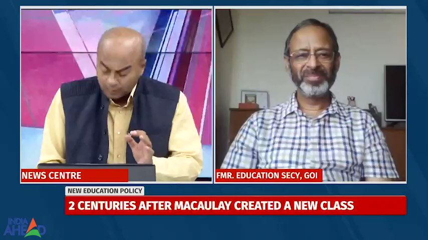 Exactly what is the objection against #NEP, Is it really gender biased as is being suggested by many? Anil Swarup, former top babu at HRD with his rather blunt take. Where is the money, he asks? Watch this for more. @IndiaAheadNews #TalkToBhupen