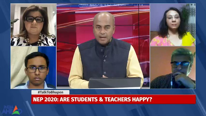 #NEP debate with people who matter, students, parents, educationists all come together. #TalkToBhupen @IndiaAheadNews
