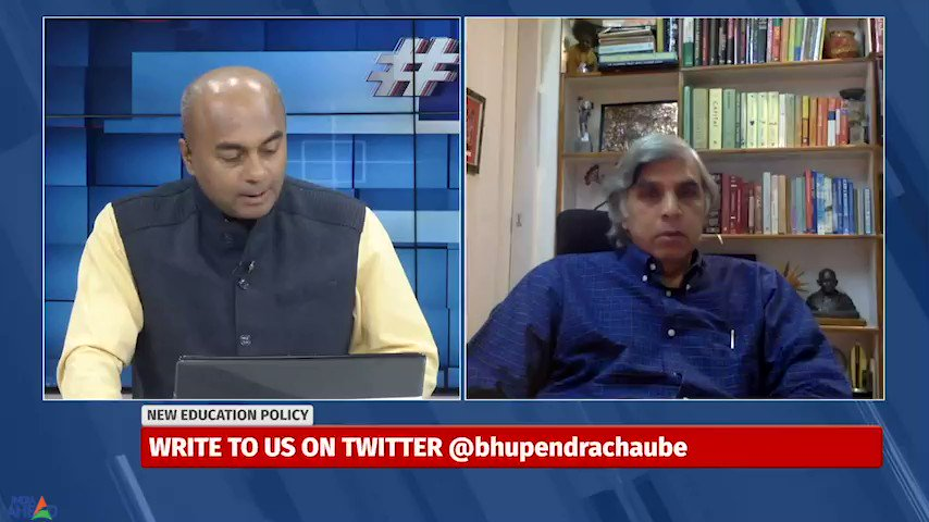 @DineshSinghEDU, One of the finest education minds in India, exactly how will the #NEP lead to knowledge based economy . is there focus on training of teachers. #TalkToBhupen @IndiaAheadNews