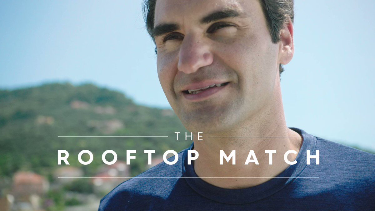 Two girls, aged 13 and 11, played a rooftop tennis match during lockdown. The video went viral.  Roger Federer surprised them with a visit. Their reaction when they realise he's on their rooftop is priceless.  What an adorable video ♥️