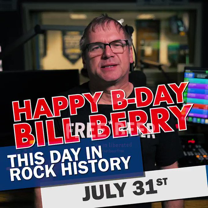 Happy birthday to the great Bill Berry of R.E.M.! More rock history at