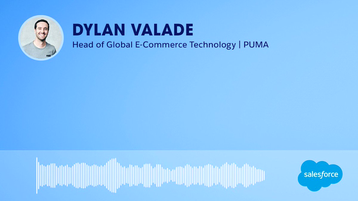 On a recent episode of #UpNextInCommerce, Dylan Valade, Head of Global E-Commerce Technology at PUMA, shared his thoughts on ecommerce and where it's headed. To get more insights like his, visit https://t.co/CURrOEu7CR. https://t.co/kJsdUEb2uu