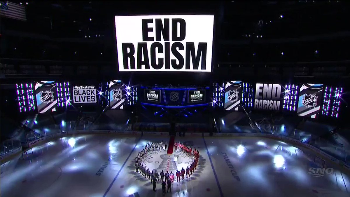 """""""Hockey is a great game, but it could be a whole lot greater… and it starts with all of us."""" - @matt_dumba #BlackLivesMatter   #isupportHDA"""