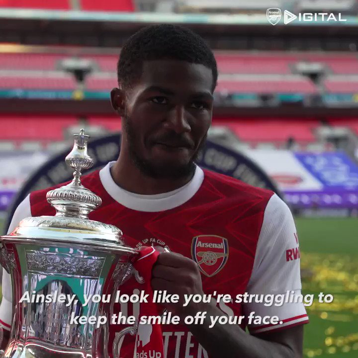 Today's 𝘾𝙪𝙧𝙧𝙚𝙣𝙩 𝙈𝙤𝙤𝙙 is brought to you by @Ains_7 🤣  #HeadsUpFACupFinal   @EmiratesFACup