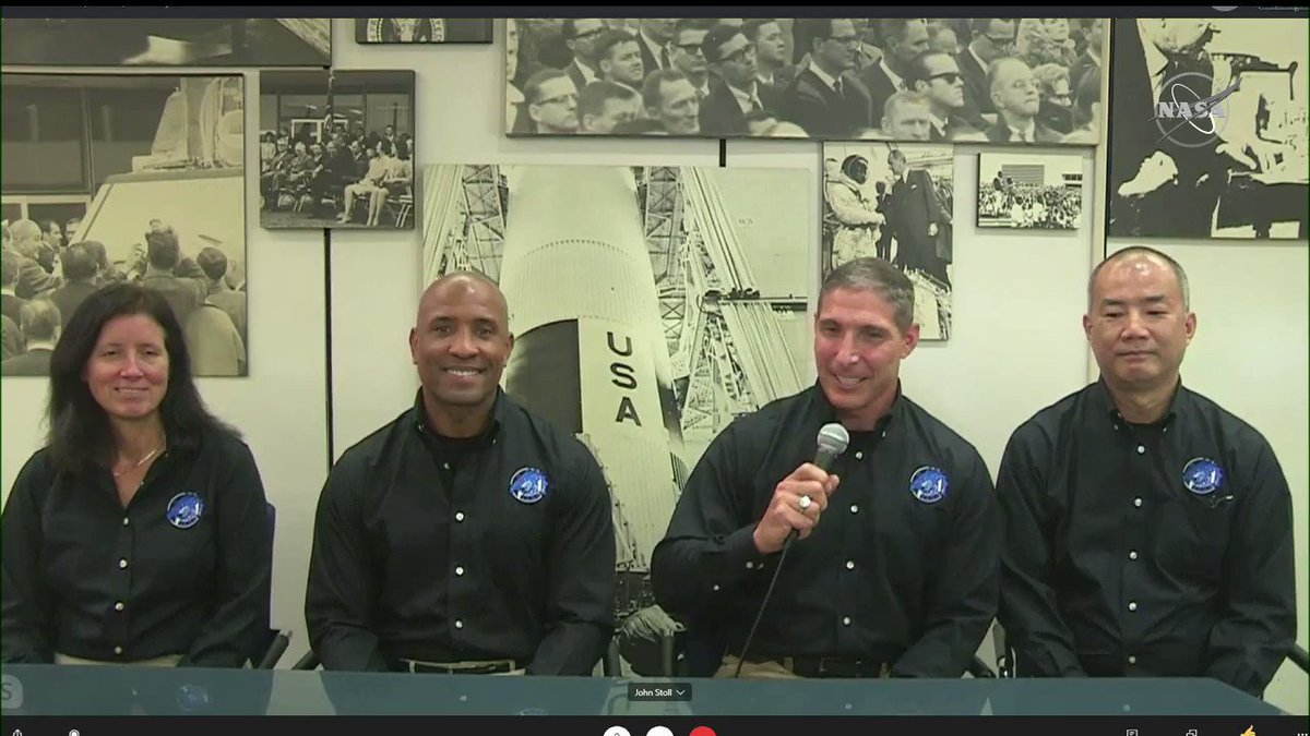 On behalf of Crew-1 and our families, we want to say congratulations to @AstroBehnken and @Astro_Doug. One of our @NASA_Astronauts scheduled for the next @SpaceX mission to the @Space_Station, Mike Hopkins, congratulates the #LaunchAmerica team: