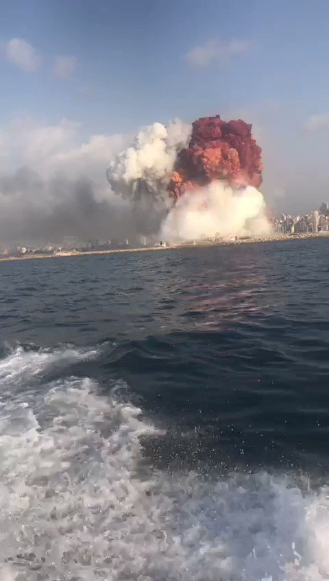 """#WATCH: """"The second explosion was terrifying - the whole building shook"""" - Arab News speaks with witnesses on the ground in #Beirut after the #BeirutExplosion  More here: https://t.co/JOMOI4AVaW https://t.co/7cre2nGNm3"""