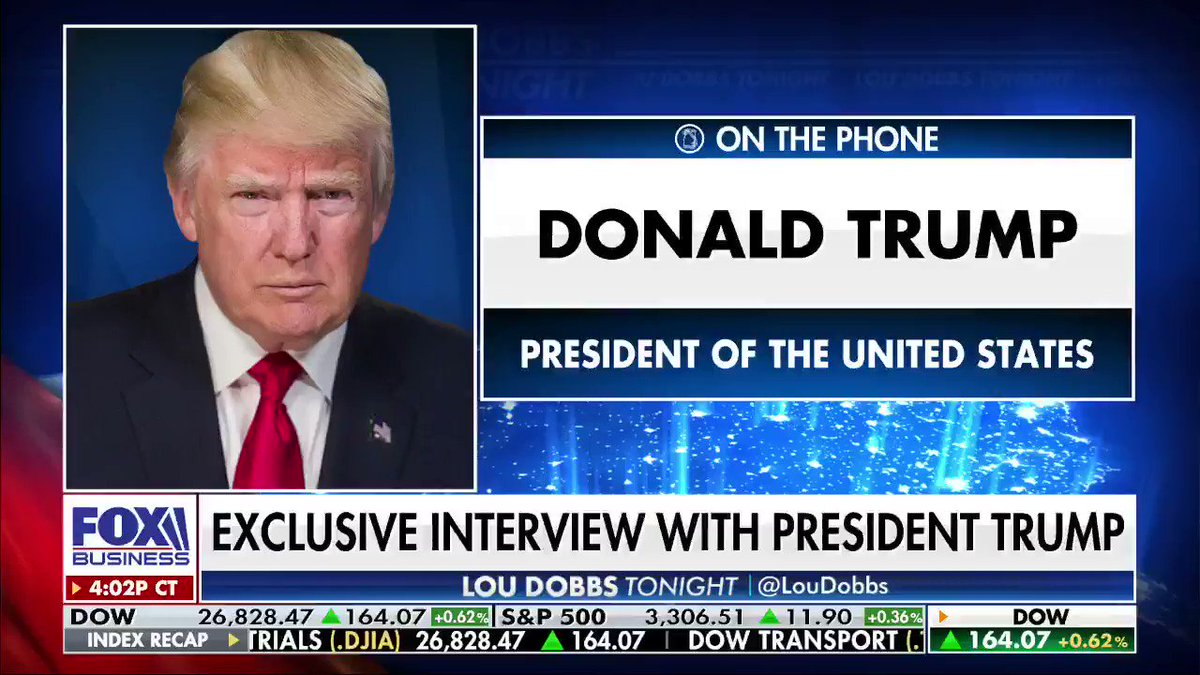 Reopening America: President @realDonaldTrump says 'we're not shutting down' our country and economy again. #MAGA #AmericaFirst #Dobbs