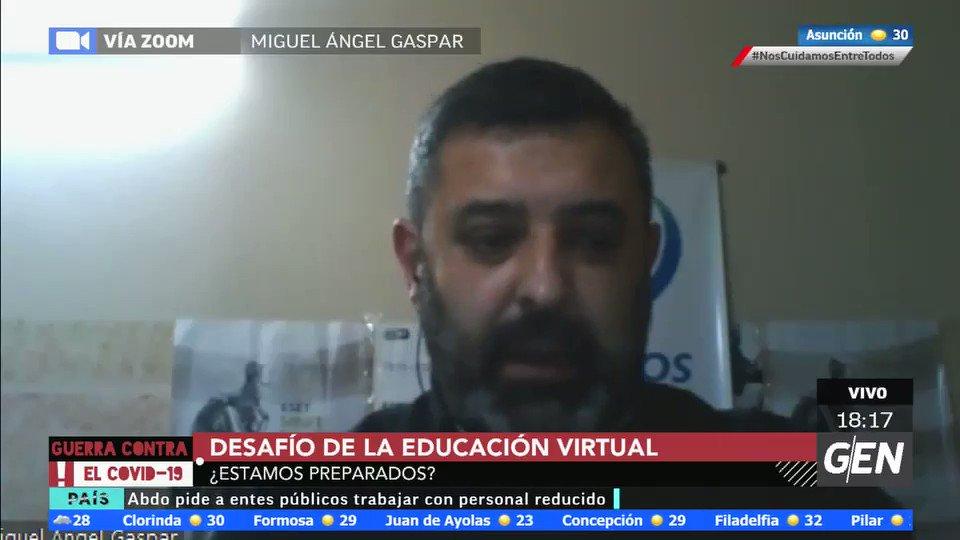 🚨#GuerracontraelCovid19 🚨   Miguel Ángel Gaspar nos habla sobre los desafíos de la educación virtual  #COVID19   📺 12/612HD de Tigo TV 8 de Copaco 15 Claro IPTV y 12 Personal TV y Flow 💻 https://t.co/fYMaekk5tL  📻 @universo970py  🎙@FabiGonzalezPy , @marceloburgosf https://t.co/QVNlZ5XhXC