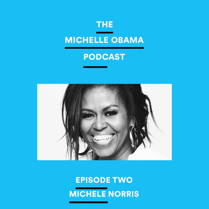 We've all been dealing with a lot of change in our lives and our communities. And I couldnt think of anyone better to talk to about this moment then my friend, @michele_norris. You can listen now on @Spotify: spoti.fi/MichelleObamaP… #MichelleObamaPodcast