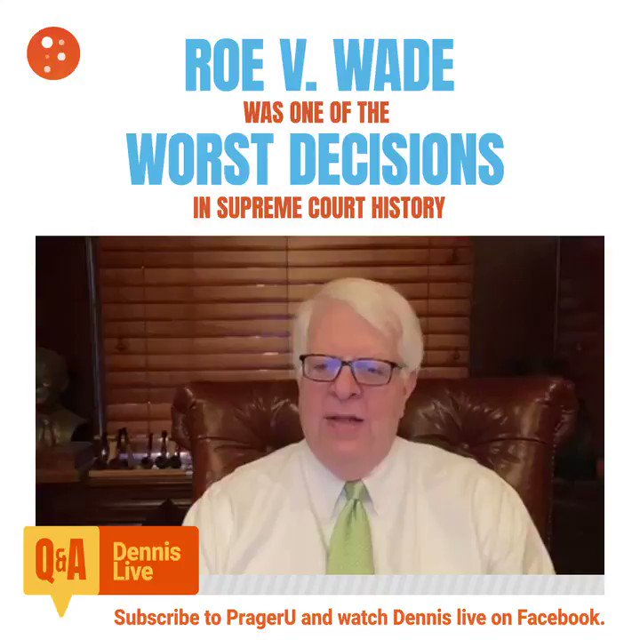 Image for the Tweet beginning: Roe v. Wade was an