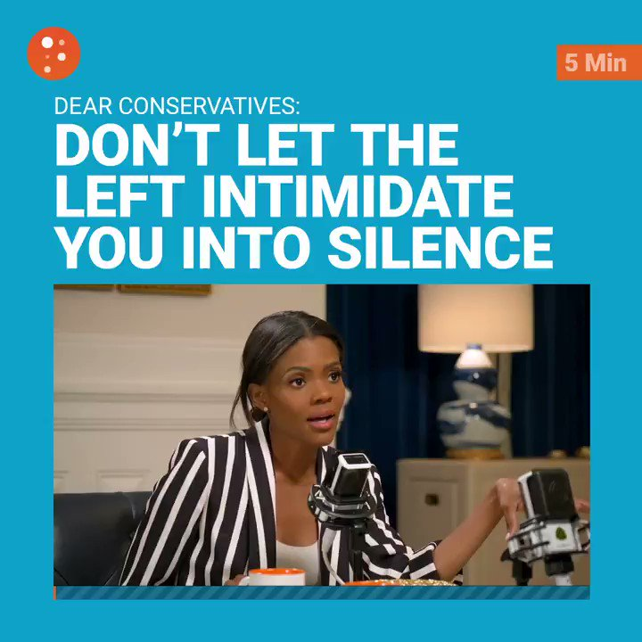 Conservatives are allowing themselves to be intimidated into silence by the left's dishonest smear tactics.   @realcandaceo @MattWalshBlog