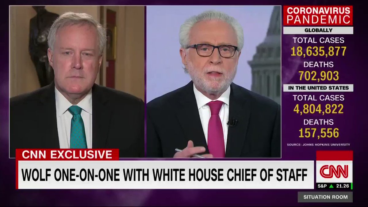 """White House chief of staff Mark Meadows says that President Trump potentially giving his Republican Convention acceptance speech from the East Wing of the White House would be """"appropriate"""" because it is considered the private residence area. https://t.co/8WOfzKv6TR"""