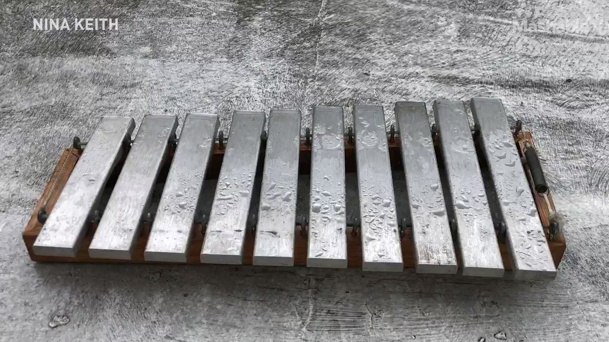 Isolated at home, this artist records meditative music made by rain drops