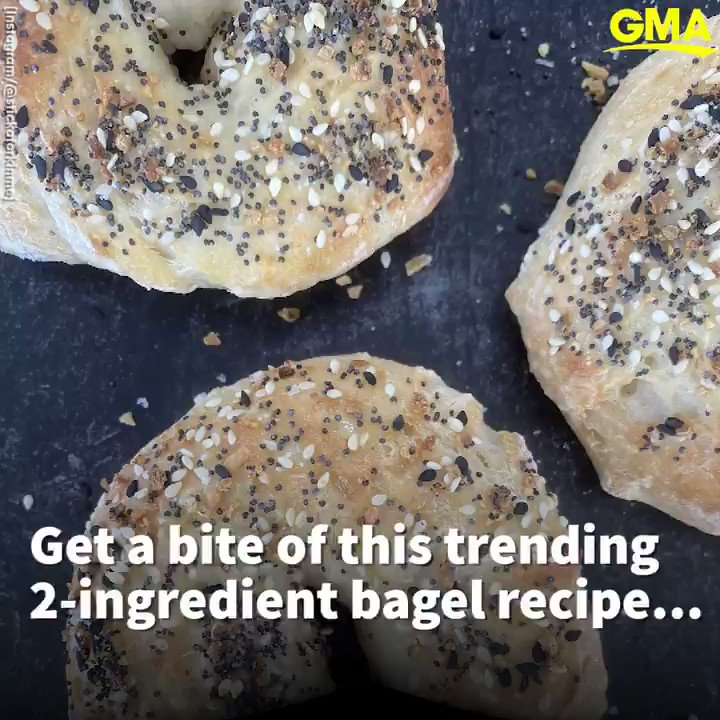 Here's how to make two-ingredient bagels at home! gma.abc/30CNf5d