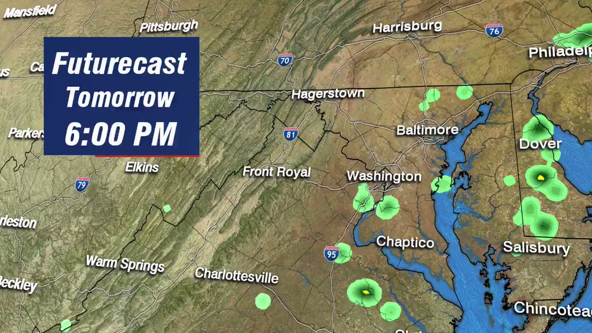 Image for the Tweet beginning: Futurecast shows just a few