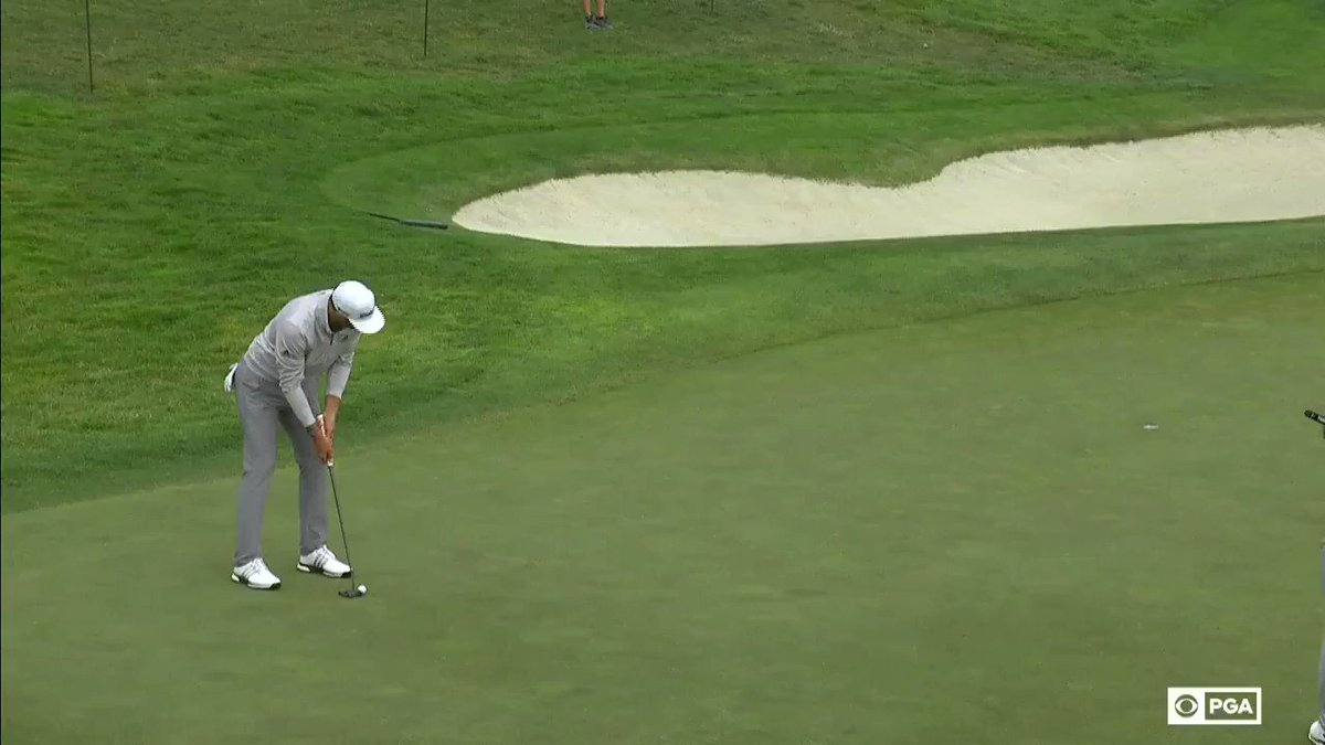 140 feet of putts made on Saturday for @DJohnsonPGA. He leads the field in SG: Putting this week.