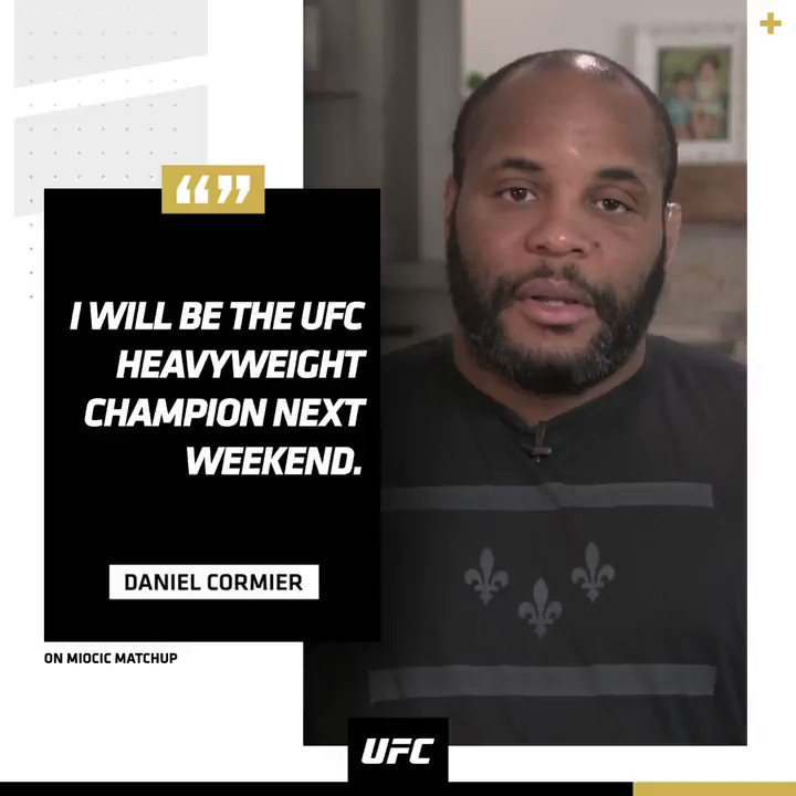 🗣 @DC_MMA is locked in for fight week. #UFC252 https://t.co/TIzI07byts
