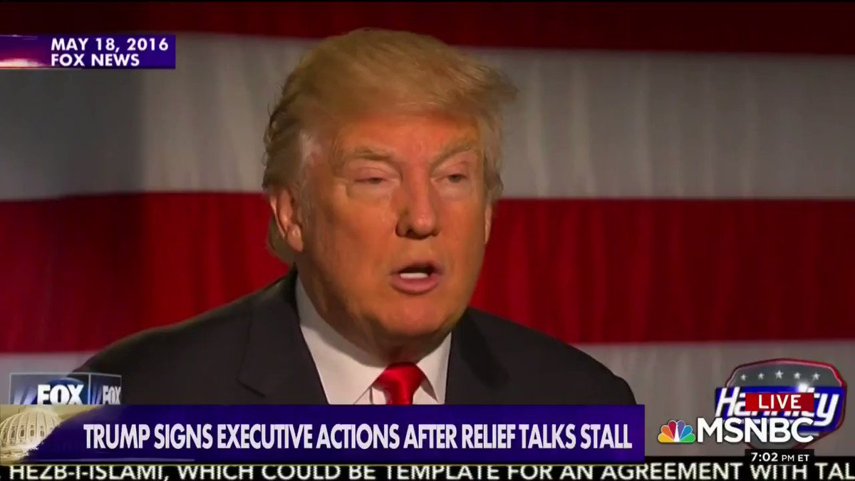 here's Trump blasting Obama again and again for issuing executive orders